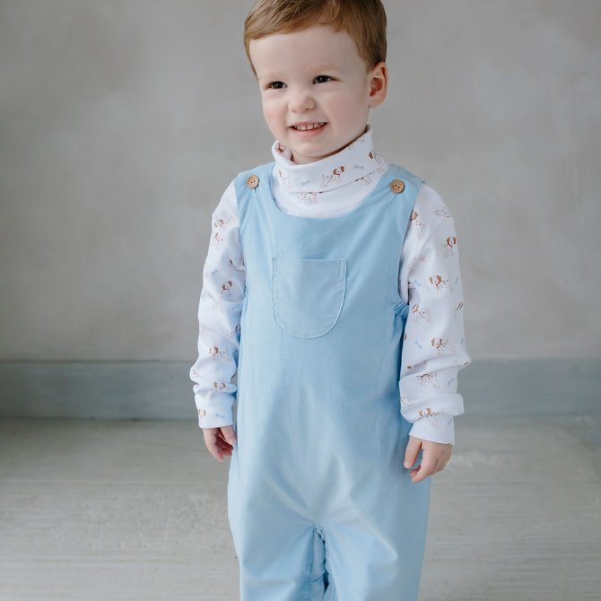 Little English Campbell Overall Light Blue