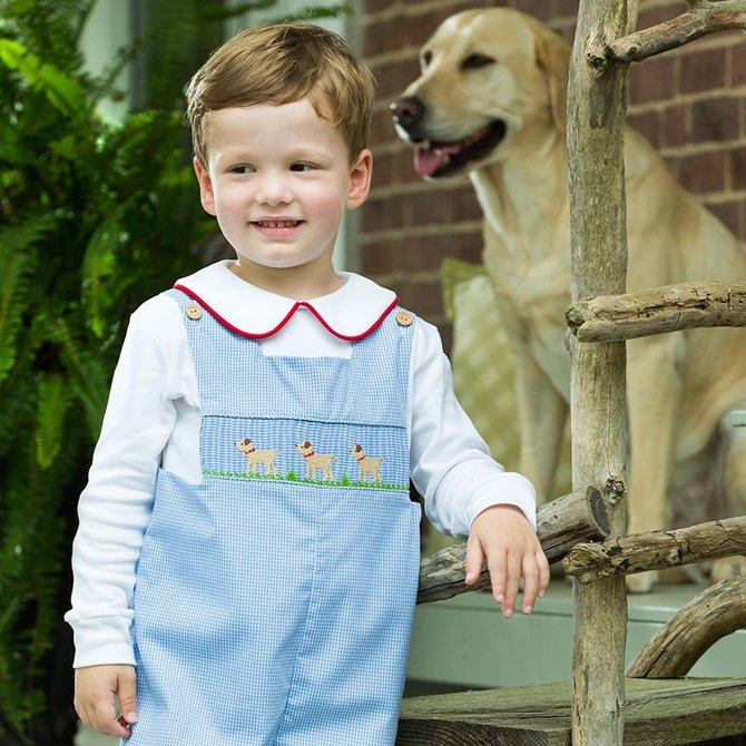 Little English Lab Smocked Longall