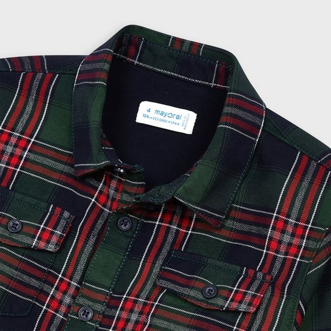 Mayoral Lined Button Down Shirt