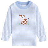 Little English Cow Applique T-shirt - Boy