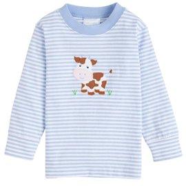 Little English Cow Applique T-shirt - Boy