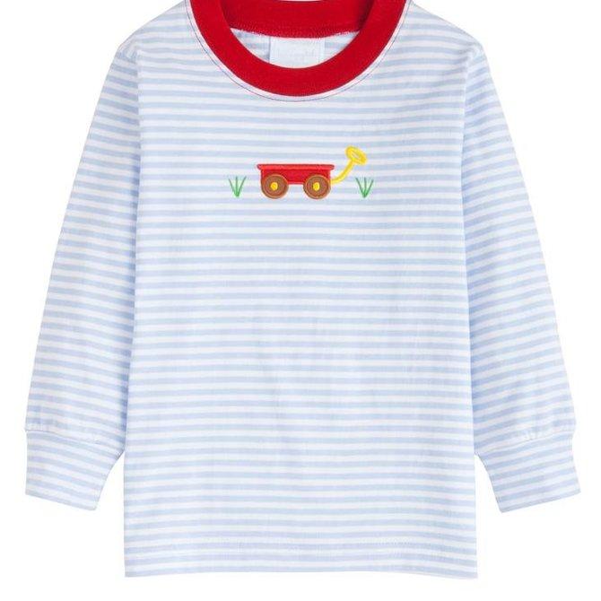 Little English Wagon Applique T-shirt - Boy