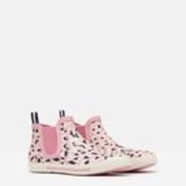 Joules Pink Leopard Short Welly