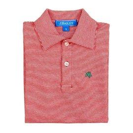 J. Bailey J. Bailey Longsleeve Polo - Red/White Stripe