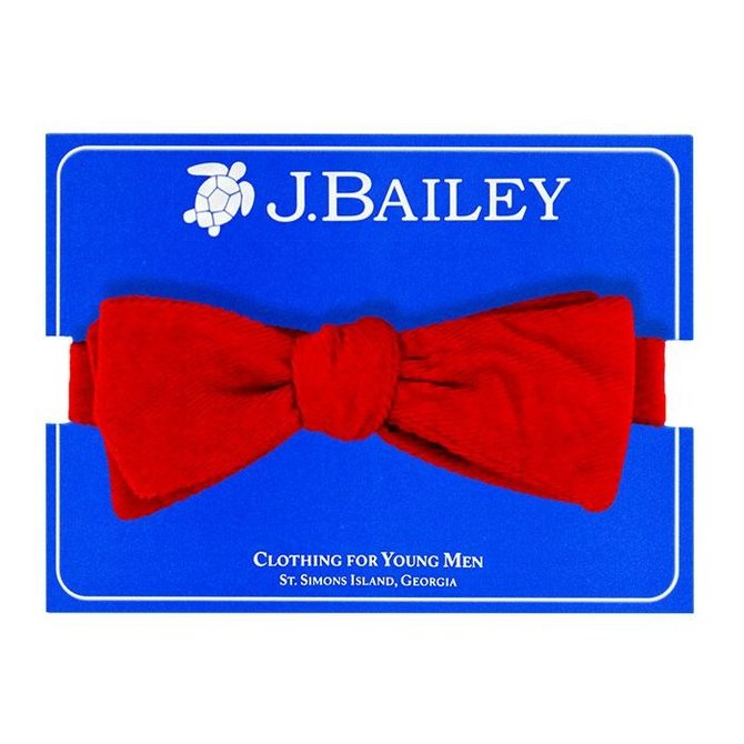 J. Bailey Red Cord Bow Tie