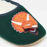 Joules Felt Mule Slipper Green Dino