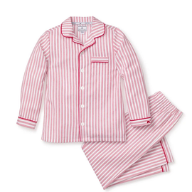 Petite Plume Antique Red Ticking Pajama Set