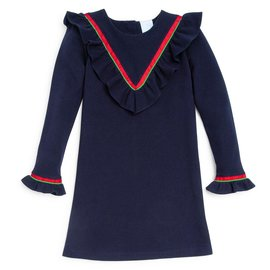 Bella Bliss Noelle Dress Navy Pique