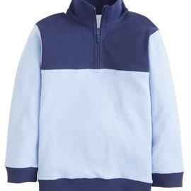 Little English Hastings Half-Zip - Boys Light Blue