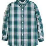 Little English Button Down Shirt- Kentucky Plaid