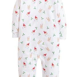 Little English Santa & Reindeer Playsuit