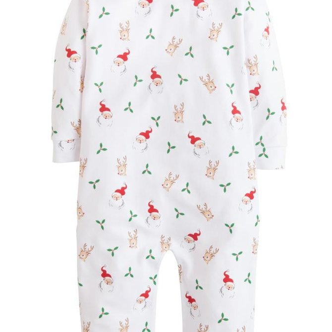 Little English Santa & Reindeer Playsuit