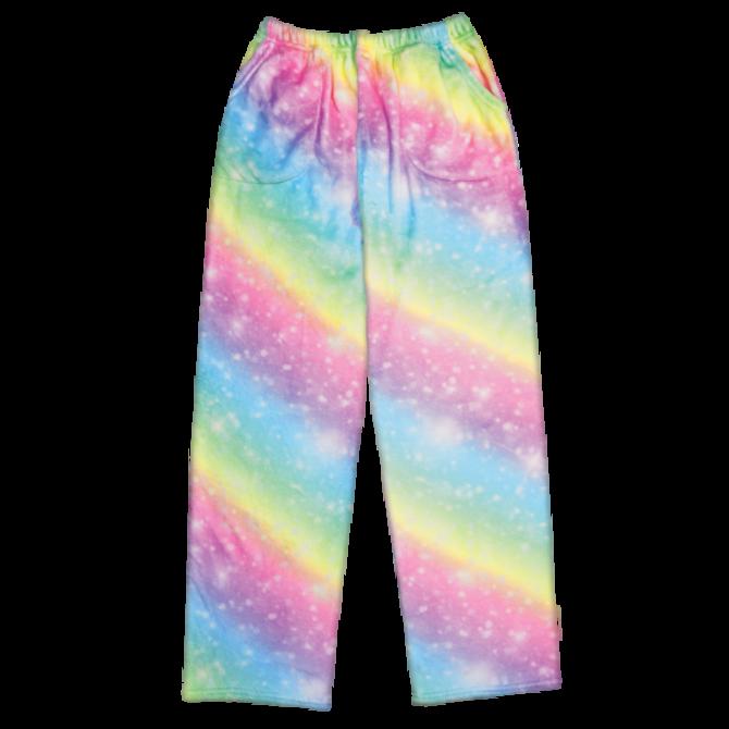 Iscream Fuzzy Pants Shimmering Rainbow