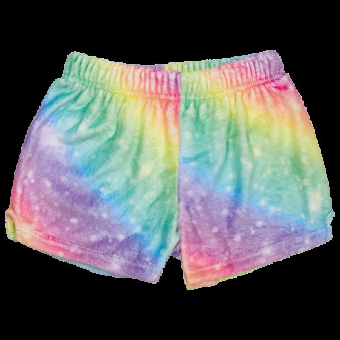Iscream Fuzzy Shorts Shimmering Rainbow
