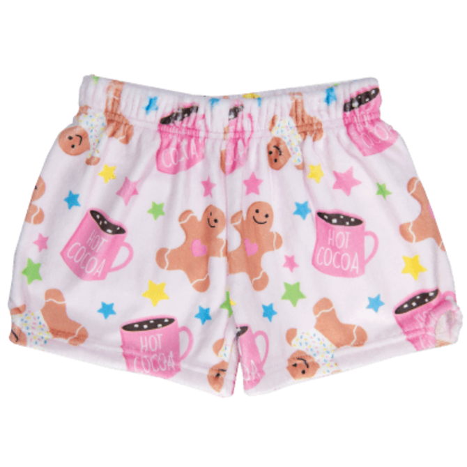 Iscream Fuzzy Shorts Sweet Holiday