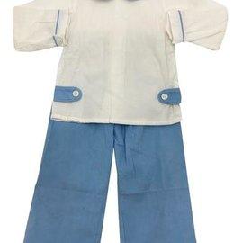 Remember Nguyen White Bell Cord Pant Set