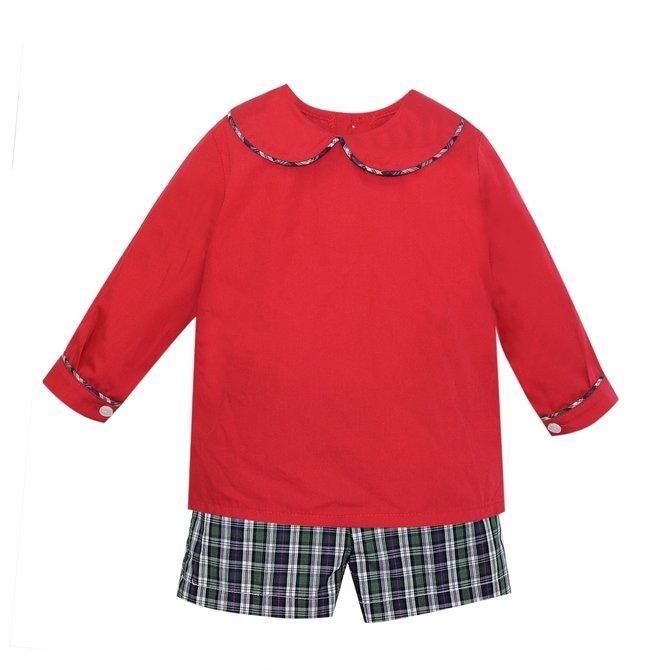 Remember Nguyen Red Kris Short Set