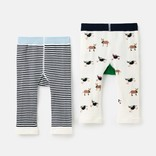 Joules Character Knit Leggings Cow Sheep
