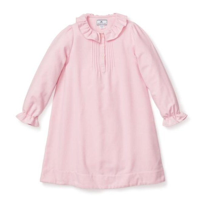 Petite Plume Pink Flannel Victoria Nightgown