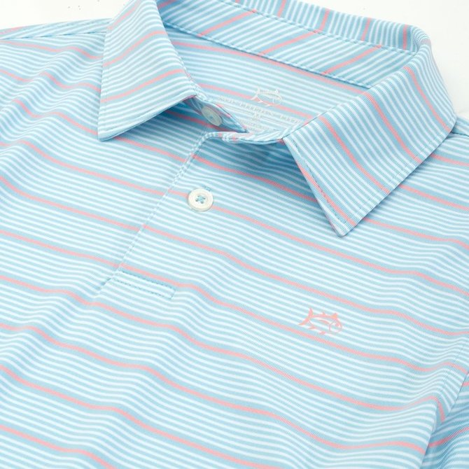 Southern Tide Youth Driver Stripe Performance Polo