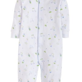 Little English Boy Printed Romper- Golf