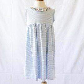 Peggy Green Cici Dress - Blue Candy Stripe w/ Churchill Floral