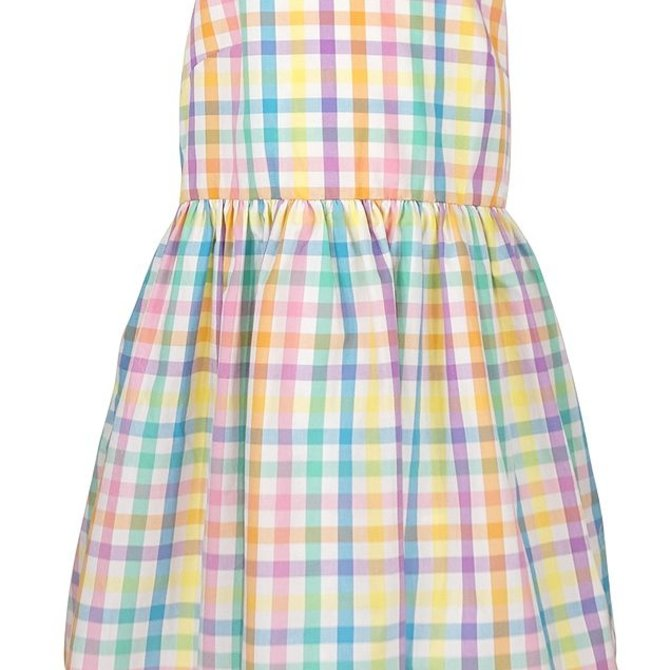 Sophie & Lucas Summer Check Dress Aqua