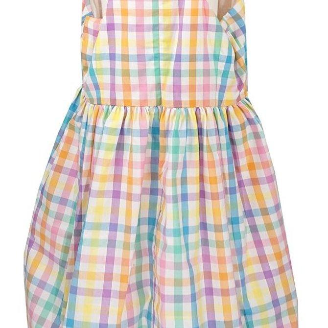Sophie & Lucas Summer Check Dress Aqua