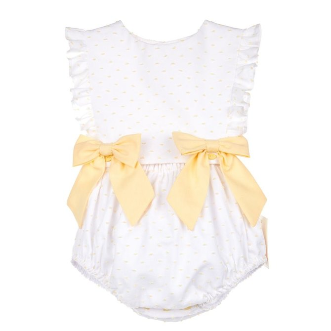 Sophie & Lucas Dot Girl Overall Yellow