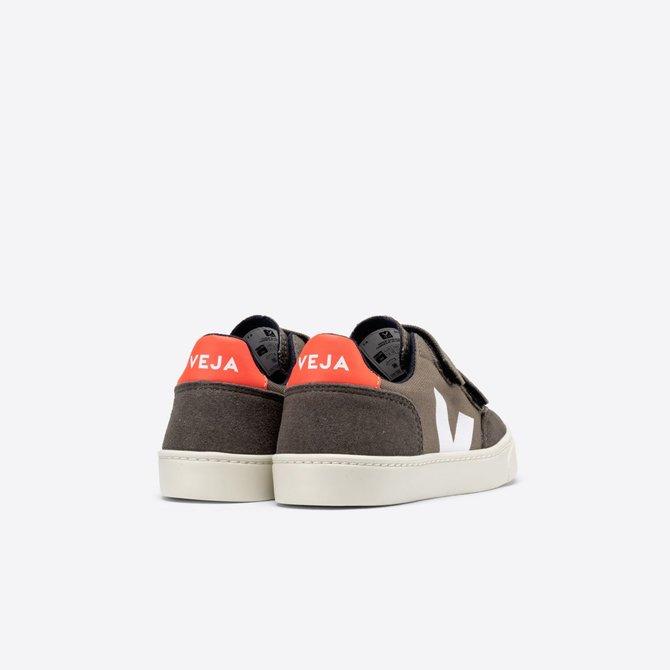 Veja Kid Sneaker Kaki Pierre Orange