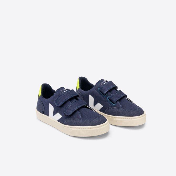 Veja Junior Sneaker Marine Jaune Fluo
