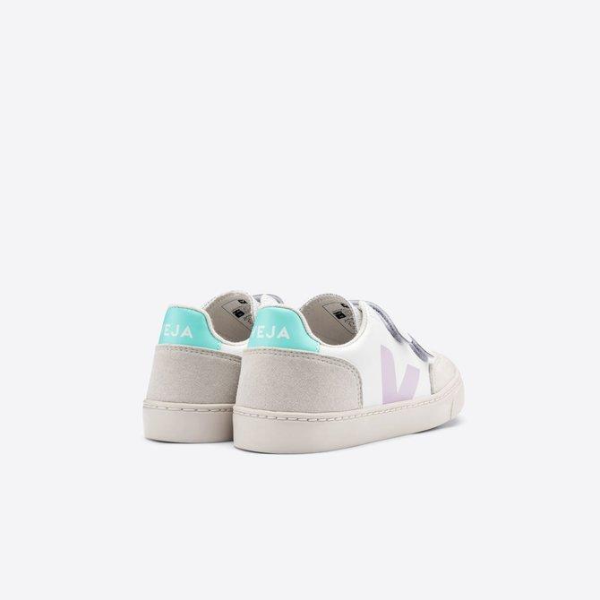 Veja Junior Sneaker White Parme Turquoise