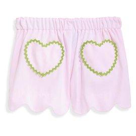 Bella Bliss Heart Pocket Short- Pink Pique