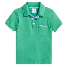 Bella Bliss Pima Ward Polo- Green