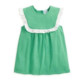Bella Bliss Pearl Ruffled Pima Blouse Green