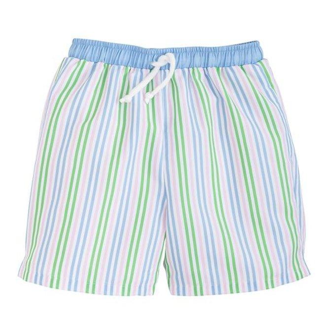 Little English Board Short - Summer Stripe