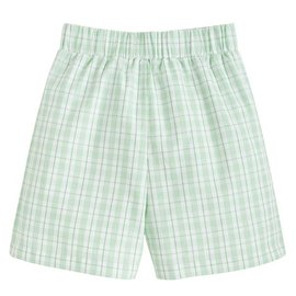 Little English Basic Short - Green Plaid