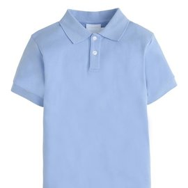 Little English Solid Polo- Light Blue