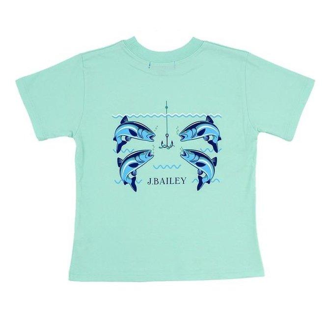 J. Bailey Logo Tee Fish with Hooks