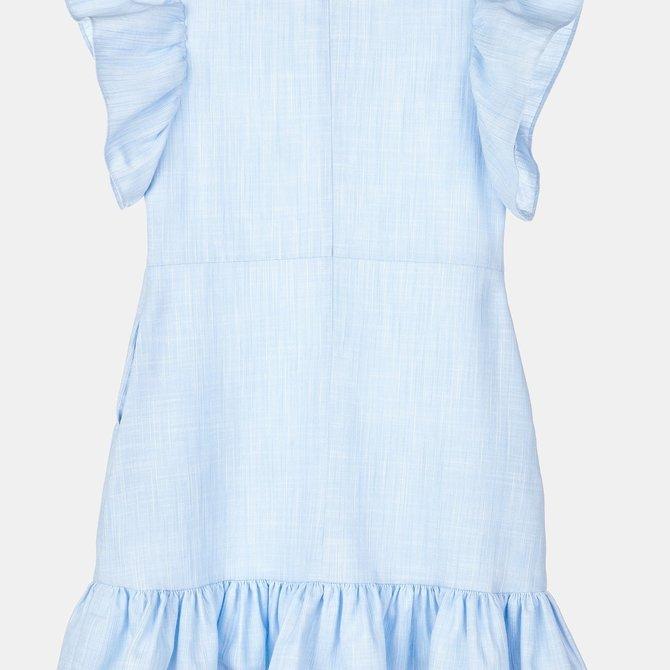 Gabby Flutter Sleeve Cotton Linen Dress