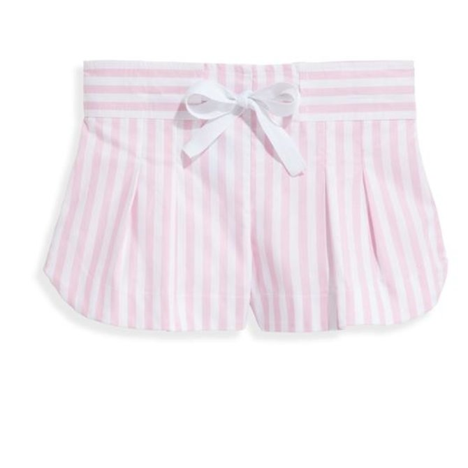 Bella Bliss Whitley Short- Pink Wide Oxford Stripe