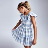 Mayoral Plaid Ruffle Dress
