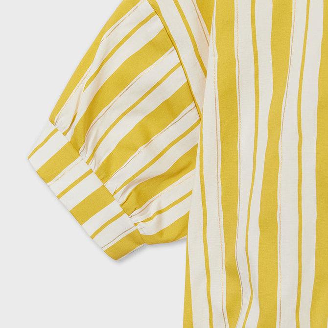Mayoral Poplin Yellow Stripe Shirt