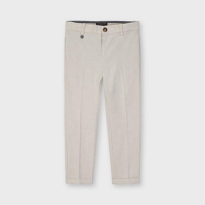 Mayoral Linen Tailored Pants