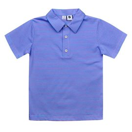 Busy Bees Knit Polo Periwinkle Stripe