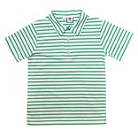 Busy Bees Knit Polo Green White Stripe