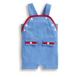 Bella Bliss Boy's Mott Pique Romper Periwinkle