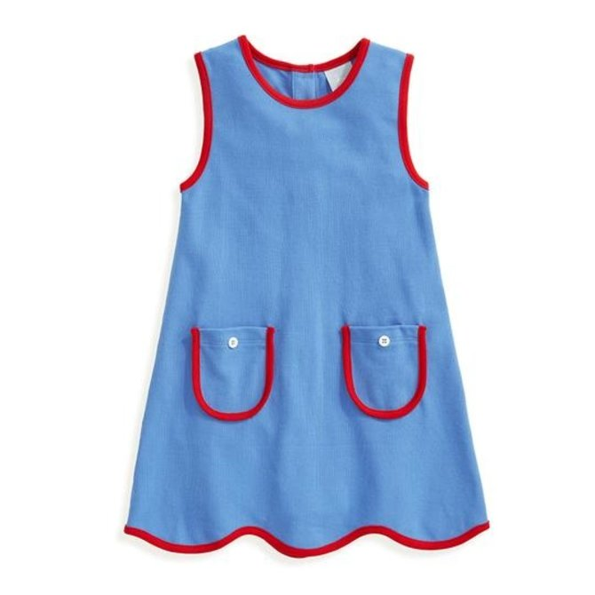Bella Bliss Kerry Pique Dress Periwinkle