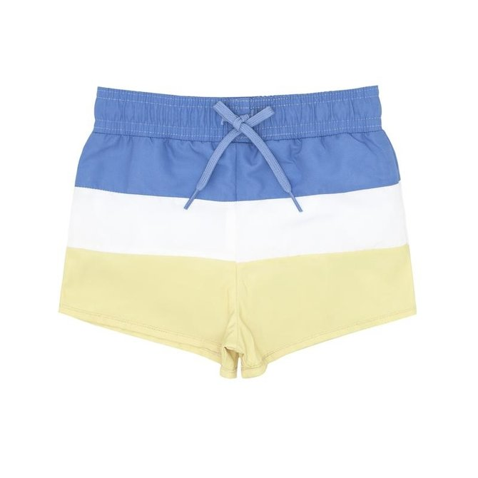 Minnow Swim Boys Blue Tri Colorblock Boardie