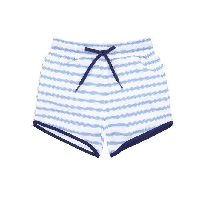 Minnow Swim Boys Blue Ticking Stripe Boardie